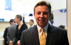 Falk Rieker, VP global da SAP para o setor bancário. Foto: Baguete